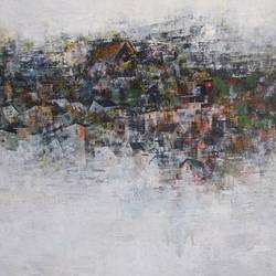 village in kashmir , 30 x 24 inch, m. singh,30x24inch,canvas,paintings,abstract paintings,abstract expressionism paintings,paintings for dining room,paintings for living room,paintings for bedroom,paintings for office,paintings for bathroom,paintings for kids room,paintings for hotel,paintings for kitchen,paintings for school,paintings for hospital,acrylic color,GAL0537744455