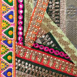 the embroidered collage, 8 x 11 inch, kanchi jain,8x11inch,ivory sheet,wall hangings,textile art,embroidery work,fabric,paper,GAL03122044457