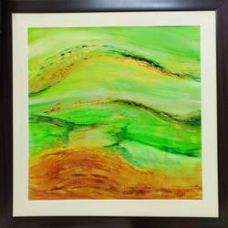 golden greeens, 36 x 36 inch, rakesh dogra,36x36inch,canvas,paintings,abstract paintings,paintings for dining room,paintings for living room,paintings for bedroom,paintings for office,paintings for bathroom,paintings for kids room,paintings for hotel,paintings for kitchen,paintings for school,paintings for hospital,acrylic color,GAL0896844482