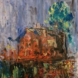 dusk somewhere , 16 x 20 inch, suchitra lata,16x20inch,canvas,paintings,abstract paintings,landscape paintings,modern art paintings,nature paintings   scenery paintings,abstract expressionism paintings,expressionism paintings,paintings for dining room,paintings for living room,paintings for bedroom,paintings for hotel,acrylic color,GAL03140344487