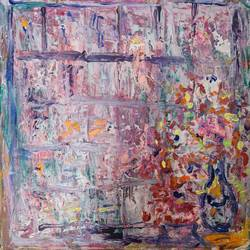 raining, 12 x 12 inch, suchitra lata,12x12inch,canvas,paintings,abstract paintings,cityscape paintings,modern art paintings,still life paintings,abstract expressionism paintings,expressionism paintings,contemporary paintings,paintings for dining room,paintings for living room,paintings for bedroom,acrylic color,GAL03140344490