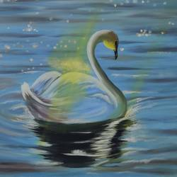 swan and the sunrays oil painting  original ready to hang, 18 x 24 inch, richa sonali,18x24inch,canvas,paintings,landscape paintings,modern art paintings,still life paintings,nature paintings | scenery paintings,paintings for bedroom,paintings for office,paintings for bathroom,paintings for kids room,paintings for hotel,paintings for kitchen,oil color,GAL03119144493