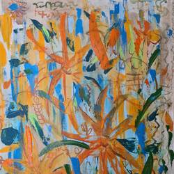 floralsacape 7, 16 x 20 inch, suchitra lata,16x20inch,canvas,paintings,abstract paintings,flower paintings,modern art paintings,still life paintings,nature paintings | scenery paintings,abstract expressionism paintings,expressionism paintings,contemporary paintings,paintings for dining room,paintings for living room,paintings for bedroom,acrylic color,ink color,GAL03140344502