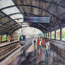 cityscape, 15 x 11 inch, ram mohan e,15x11inch,paper,paintings,cityscape paintings,landscape paintings,nature paintings | scenery paintings,impressionist paintings,paintings for dining room,paintings for living room,paintings for office,paintings for kids room,paintings for hotel,paintings for school,watercolor,GAL069744528