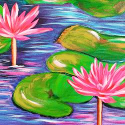 lotus stories, 22 x 18 inch, rakesh dogra,22x18inch,canvas,paintings,nature paintings   scenery paintings,paintings for dining room,paintings for living room,paintings for bedroom,paintings for office,paintings for bathroom,paintings for kids room,paintings for hotel,paintings for kitchen,paintings for school,paintings for hospital,acrylic color,GAL0896844531