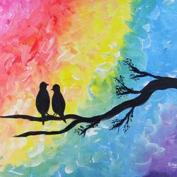 love is in the air, 22 x 18 inch, rakesh dogra,22x18inch,canvas,paintings,abstract paintings,nature paintings   scenery paintings,animal paintings,love paintings,paintings for dining room,paintings for living room,paintings for bedroom,paintings for office,paintings for bathroom,paintings for kids room,paintings for hotel,paintings for kitchen,paintings for school,paintings for hospital,acrylic color,GAL0896844533
