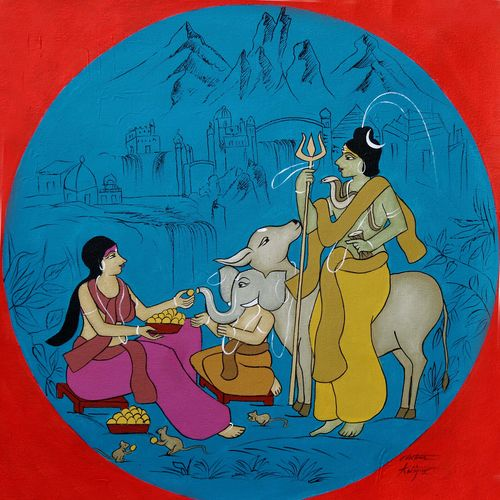 in gyanganj, 22 x 22 inch, chetan katigar,22x22inch,canvas,paintings,abstract paintings,figurative paintings,folk art paintings,foil paintings,cityscape paintings,landscape paintings,modern art paintings,multi piece paintings,conceptual paintings,religious paintings,still life paintings,portrait paintings,nature paintings | scenery paintings,abstract expressionism paintings,art deco paintings,cubism paintings,expressionism paintings,impressionist paintings,photorealism,portraiture,realism paintings,ganesha paintings | lord ganesh paintings,radha krishna paintings,contemporary paintings,realistic paintings,love paintings,horse paintings,elephant paintings,lord shiva paintings,paintings for dining room,paintings for living room,paintings for bedroom,paintings for office,paintings for bathroom,paintings for kids room,paintings for hotel,paintings for kitchen,paintings for school,paintings for hospital,acrylic color,GAL026644536
