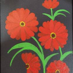 daisies, 10 x 12 inch, geethanjali s,10x12inch,canvas,paintings,flower paintings,modern art paintings,nature paintings | scenery paintings,paintings for dining room,paintings for living room,paintings for bedroom,paintings for office,paintings for kids room,paintings for hotel,paintings for school,paintings for hospital,acrylic color,GAL03168944545