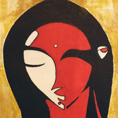 classy woman, 12 x 16 inch, aaamruta kulkarni,12x16inch,canvas,paintings,abstract paintings,figurative paintings,portrait paintings,paintings for dining room,paintings for living room,paintings for bedroom,paintings for office,paintings for hotel,acrylic color,GAL02922044552