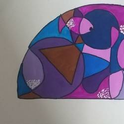 semicircle design, 8 x 12 inch, ruchi  singh ,8x12inch,drawing paper,conceptual paintings,watercolor,GAL03069844556