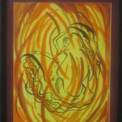 free dance, 15 x 19 inch, namrata  gupta,art deco paintings,paintings for living room,canvas,acrylic color,15x19inch,GAL015674456