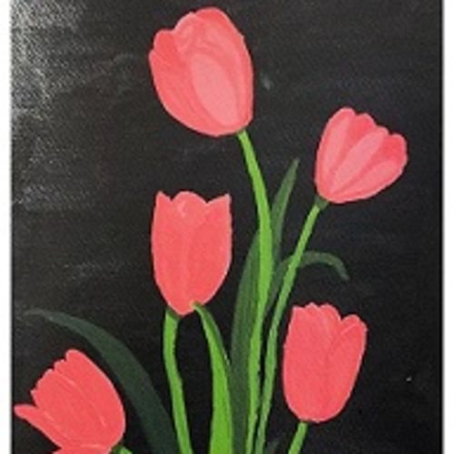tulip flowers, 8 x 12 inch, geethanjali s,8x12inch,brustro watercolor paper,paintings,abstract paintings,flower paintings,paintings for dining room,paintings for living room,paintings for bedroom,paintings for office,paintings for kids room,paintings for hotel,paintings for kitchen,paintings for school,paintings for hospital,acrylic color,GAL03168944563