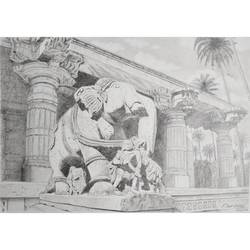 elephant statue, 12 x 8 inch, sandeep naik,12x8inch,cartridge paper,drawings,illustration drawings,realism drawings,paintings for living room,paintings for hotel,pencil color,GAL03189844612