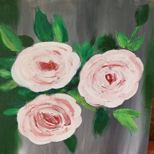 rose, 12 x 10 inch, riya riyanshi,12x10inch,canvas board,paintings,flower paintings,paintings for dining room,paintings for living room,paintings for bedroom,paintings for office,paintings for bathroom,paintings for hotel,paintings for school,paintings for hospital,acrylic color,GAL03181744619