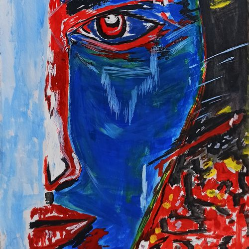 the rage, 21 x 30 inch, saurabh  dubey,21x30inch,thick paper,paintings,abstract paintings,figurative paintings,abstract expressionism paintings,surrealism paintings,paintings for dining room,paintings for living room,paintings for hotel,paintings for dining room,paintings for living room,paintings for hotel,poster color,GAL03192044674