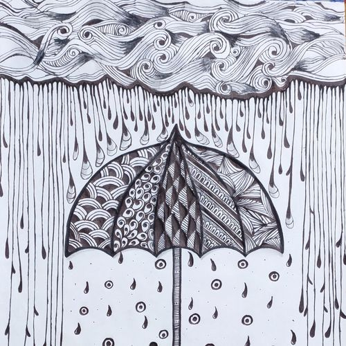 rainy umbrella drawing, 11 x 14 inch, dr.foram panchal,11x14inch,drawing paper,drawings,abstract drawings,paintings for dining room,paintings for living room,paintings for bedroom,paintings for office,paintings for bathroom,paintings for kids room,paintings for hotel,paintings for kitchen,paintings for school,paintings for hospital,ball point pen,paper,GAL03170544700
