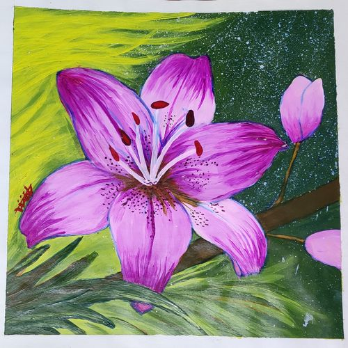 pink flower , 11 x 14 inch, dr.foram panchal,11x14inch,drawing paper,paintings,flower paintings,paintings for dining room,paintings for living room,paintings for bedroom,paintings for office,paintings for bathroom,paintings for kids room,paintings for hotel,paintings for kitchen,paintings for school,paintings for hospital,acrylic color,paper,GAL03170544702