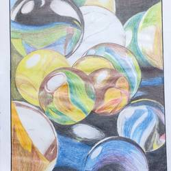 playing marbles, 12 x 16 inch, dr.foram panchal,12x16inch,drawing paper,paintings,abstract paintings,illustration paintings,paintings for dining room,paintings for living room,paintings for bedroom,paintings for office,paintings for bathroom,paintings for kids room,paintings for hotel,paintings for kitchen,paintings for school,paintings for hospital,pencil color,paper,GAL03170544703