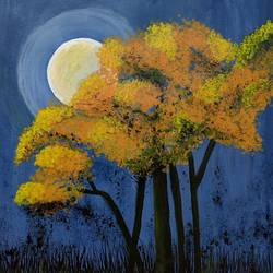 in the moon light, 14 x 14 inch, vanitha raj k c,14x14inch,canvas,paintings,landscape paintings,nature paintings | scenery paintings,illustration paintings,realistic paintings,paintings for dining room,paintings for living room,paintings for bedroom,paintings for office,paintings for bathroom,paintings for kids room,paintings for hotel,paintings for kitchen,paintings for school,paintings for hospital,acrylic color,GAL03168844710