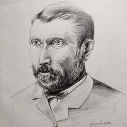 world famous vincent van gogh, 11 x 15 inch, krishna  mondal ,11x15inch,cartridge paper,drawings,photorealism drawings,portrait drawings,paintings for dining room,paintings for living room,paintings for bedroom,paintings for office,paintings for bathroom,paintings for kids room,paintings for hotel,paintings for kitchen,paintings for school,paintings for hospital,pencil color,GAL03095444736