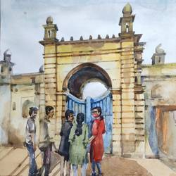 historical place , 11 x 15 inch, krishna  mondal ,11x15inch,cartridge paper,paintings,photorealism paintings,photorealism,realism paintings,paintings for dining room,paintings for living room,paintings for bedroom,paintings for office,paintings for bathroom,paintings for kids room,paintings for hotel,paintings for kitchen,watercolor,GAL03095444777
