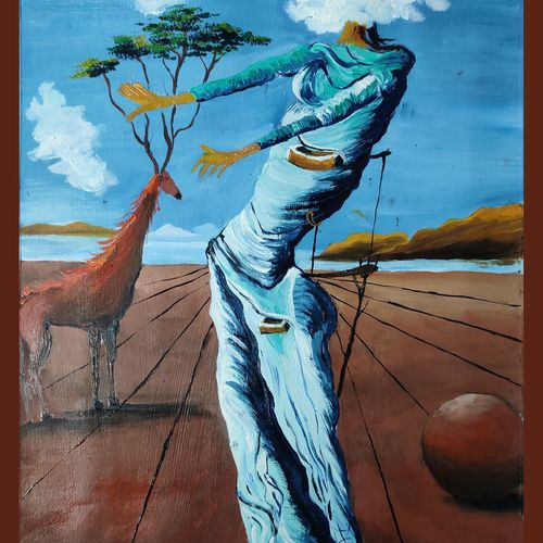 surrelism world, 11 x 17 inch, shankhadeep  mondal,11x17inch,thick paper,paintings,modern art paintings,conceptual paintings,surrealism paintings,paintings for dining room,paintings for living room,paintings for bedroom,paintings for office,paintings for kids room,paintings for hotel,paintings for kitchen,paintings for school,paintings for hospital,oil color,GAL01403044786