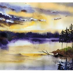 afternoon light, 8 x 11 inch, shankhadeep  mondal,8x11inch,brustro watercolor paper,paintings,landscape paintings,nature paintings | scenery paintings,paintings for dining room,paintings for living room,paintings for bedroom,paintings for office,paintings for kids room,paintings for hotel,paintings for kitchen,paintings for school,paintings for hospital,watercolor,GAL01403044790