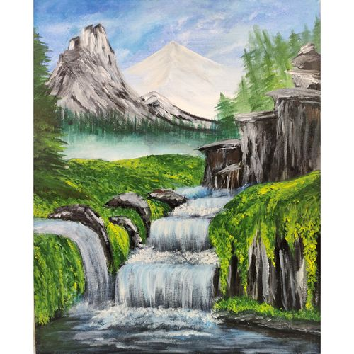 lush green , 16 x 24 inch, kruthi rajesh  vembar ,16x24inch,canvas,paintings,landscape paintings,nature paintings | scenery paintings,paintings for dining room,paintings for living room,paintings for bedroom,paintings for office,paintings for bathroom,paintings for kids room,paintings for hotel,paintings for kitchen,paintings for school,paintings for hospital,oil color,GAL03197344794
