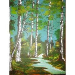 waldeinsamkeit, 16 x 24 inch, kruthi rajesh  vembar ,16x24inch,wood board,paintings,landscape paintings,nature paintings | scenery paintings,paintings for dining room,paintings for living room,paintings for bedroom,paintings for office,paintings for bathroom,paintings for kids room,paintings for hotel,paintings for kitchen,paintings for school,paintings for hospital,oil color,GAL03197344795