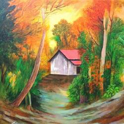 nature , 18 x 18 inch, a.b.  kaser,18x18inch,canvas,paintings,abstract paintings,wildlife paintings,landscape paintings,nature paintings | scenery paintings,paintings for dining room,paintings for living room,paintings for bedroom,paintings for office,paintings for kids room,paintings for hotel,paintings for school,acrylic color,GAL063644799