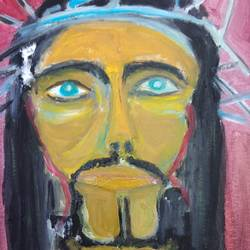 jessus, 24 x 26 inch, mile vilotijevic,24x26inch,canvas,paintings,abstract paintings,religious paintings,oil color,GAL02991944836