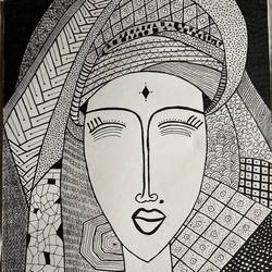 zentangle art, 11 x 13 inch, rushali rana,11x13inch,drawing paper,drawings,abstract drawings,pen color,GAL03205944870