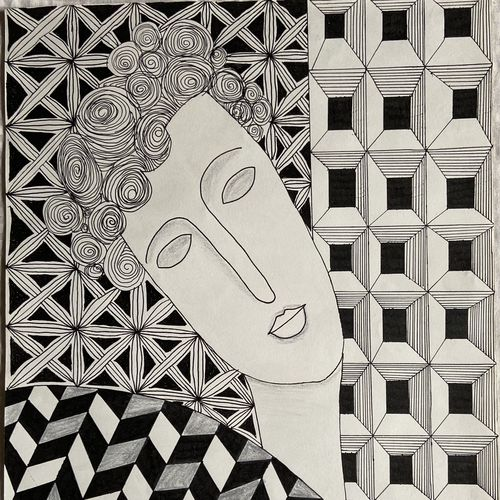 zentangle art, 11 x 14 inch, rushali rana,11x14inch,drawing paper,drawings,abstract drawings,pen color,GAL03205944871