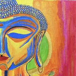 peace n divine , 16 x 20 inch, richa  jha,16x20inch,canvas,paintings,buddha paintings,conceptual paintings,religious paintings,portrait paintings,paintings for dining room,paintings for living room,paintings for bedroom,paintings for office,paintings for kids room,paintings for hotel,paintings for kitchen,paintings for school,paintings for hospital,acrylic color,GAL03203744894