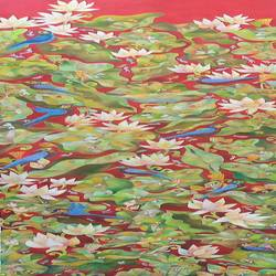 life, 16 x 48 inch, chaitali chatterjee,16x48inch,canvas,paintings,landscape paintings,conceptual paintings,oil color,GAL01566244924
