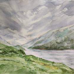 landscape, 16 x 12 inch, ram mohan e,16x12inch,brustro watercolor paper,paintings,landscape paintings,nature paintings | scenery paintings,impressionist paintings,paintings for dining room,paintings for living room,paintings for bedroom,paintings for office,paintings for kids room,paintings for hotel,paintings for school,watercolor,GAL069744979
