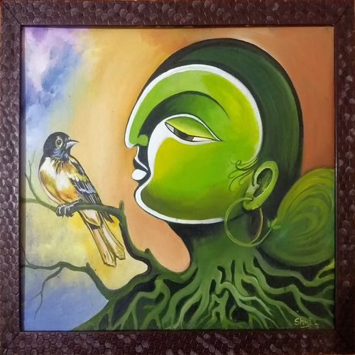 mother earth, 19 x 16 inch, dhanush k,19x16inch,canvas,paintings,abstract paintings,paintings for dining room,paintings for living room,paintings for bedroom,paintings for kids room,paintings for hotel,paintings for kitchen,paintings for school,acrylic color,GAL03073945005