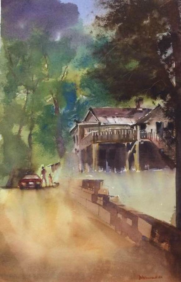 Original watercolour painting on archies paper 300 gsm