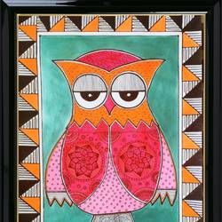 madhubani painting - owl, 12 x 17 inch, jayasudha kulkarni,12x17inch,thick paper,paintings,abstract paintings,wildlife paintings,figurative paintings,folk art paintings,modern art paintings,still life paintings,portrait paintings,abstract expressionism paintings,expressionism paintings,street art,realistic paintings,horse paintings,madhubani paintings | madhubani art,warli paintings,phad painting,kalamkari painting,miniature painting.,paintings for dining room,paintings for living room,paintings for bedroom,paintings for office,paintings for kids room,paintings for hotel,paintings for kitchen,paintings for school,paintings for hospital,paintings for dining room,paintings for living room,paintings for bedroom,paintings for office,paintings for kids room,paintings for hotel,paintings for kitchen,paintings for school,paintings for hospital,acrylic color,enamel color,ink color,photo ink,poster color,wood,brass,metal,bronze,paper,GAL03223645019