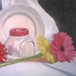 still life-2, 10 x 8 inch, sangita sarkar,still life paintings,paintings for dining room,canvas board,oil,10x8inch,GAL015594503