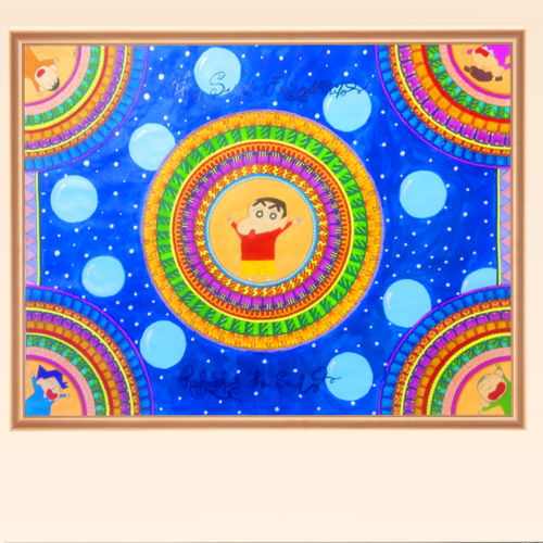 shinchan mandala art, 30 x 22 inch, ishita singh,30x22inch,thick paper,paintings for dining room,paintings for living room,paintings for bedroom,paintings for office,paintings for bathroom,paintings for kids room,paintings for hotel,paintings for school,paintings for hospital,art deco drawings,paintings for dining room,paintings for living room,paintings for bedroom,paintings for office,paintings for bathroom,paintings for kids room,paintings for hotel,paintings for school,paintings for hospital,acrylic color,pen color,paper,GAL03223245030
