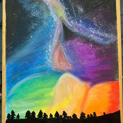 galaxy, 12 x 17 inch, sakshi jain,12x17inch,thick paper,drawings,graffiti drawings,paintings for dining room,paintings for living room,paintings for bedroom,paintings for office,paintings for kids room,paintings for hotel,paintings for school,fabric,pastel color,GAL03224545038