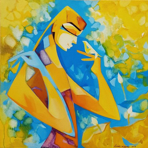 tell me a story, 24 x 26 inch, laxmi mysore,24x26inch,canvas,paintings,figurative paintings,acrylic color,GAL03226145052
