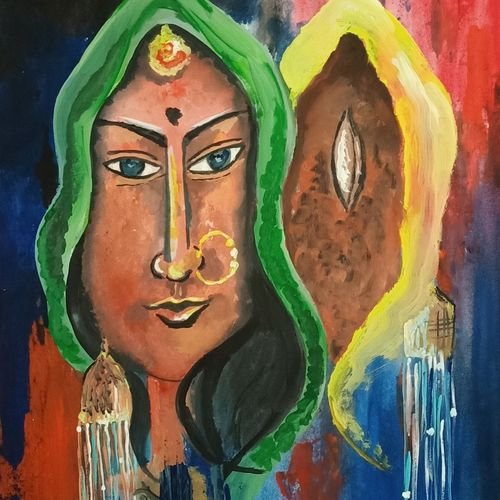 the eye, 14 x 22 inch, ramya arumugam,14x22inch,thick paper,paintings,abstract paintings,figurative paintings,paintings for dining room,paintings for living room,paintings for bedroom,paintings for office,paintings for bathroom,paintings for kids room,paintings for hotel,paintings for kitchen,paintings for school,paintings for hospital,acrylic color,poster color,GAL01066145072