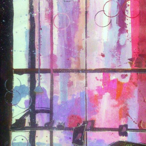 the window of inspiration, 10 x 15 inch, anirban  kar,abstract paintings,paintings for living room,paper,mixed media,10x15inch,GAL015604511