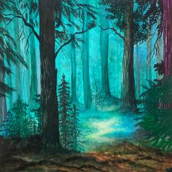 forest painting, 8 x 12 inch, nikita teke,8x12inch,drawing paper,paintings,wildlife paintings,nature paintings | scenery paintings,art deco paintings,paintings for dining room,paintings for living room,paintings for bedroom,paintings for office,paintings for hotel,watercolor,GAL03223345123