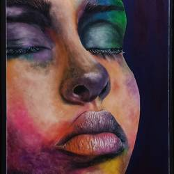 color of beauty, 8 x 12 inch, nikita teke,8x12inch,handmade paper,paintings,portrait paintings,paintings for living room,paintings for bedroom,paintings for office,poster color,watercolor,GAL03223345128