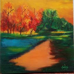nature, 16 x 12 inch, chandrani banerjee,16x12inch,canvas,paintings,landscape paintings,modern art paintings,conceptual paintings,nature paintings | scenery paintings,expressionism paintings,paintings for dining room,paintings for living room,paintings for bedroom,paintings for office,paintings for kids room,paintings for hotel,paintings for kitchen,paintings for school,paintings for hospital,acrylic color,enamel color,ink color,natural color,oil color,pastel color,pencil color,poster color,ball point pen,graphite pencil,paper,GAL02832045192