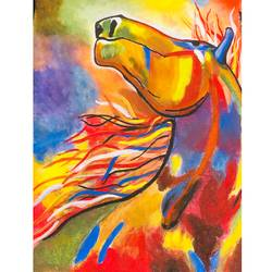 gracefully wild, 14 x 17 inch, harmeet kaur,14x17inch,canvas,figurative paintings,conceptual paintings,animal paintings,horse paintings,paintings for dining room,paintings for living room,paintings for bedroom,paintings for office,paintings for hotel,paintings for dining room,paintings for living room,paintings for bedroom,paintings for office,paintings for hotel,acrylic color,GAL01457845251