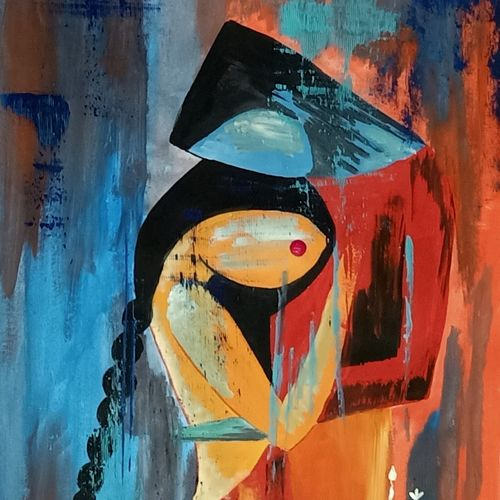 love, 14 x 22 inch, ramya arumugam,14x22inch,thick paper,paintings,abstract paintings,paintings for dining room,paintings for living room,paintings for bedroom,paintings for office,paintings for bathroom,paintings for kids room,paintings for kitchen,paintings for school,acrylic color,poster color,GAL01066145255
